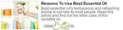 basil oil for mood